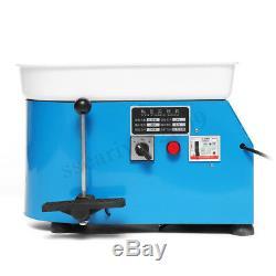 110V 25CM Electric Pottery Wheel Machine For Ceramic Work Clay Art Craft DIY