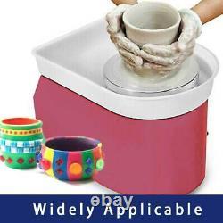 110V Electric Pottery Wheel Ceramic Machine 25CM Work Clay Art Craft 350W Pink