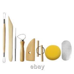 110V Electric Pottery Wheel Ceramic Machine 25CM Work Clay Art Craft DIY Orange