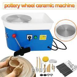 110W 25CM Electric Pottery Wheel Machine Child DIY Ceramic Handmade Art Molding