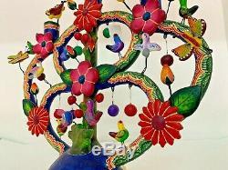 13 Mexican Folk Pottery Art Tree Of Life Vintage Flowers Birds Wildlife Crafts