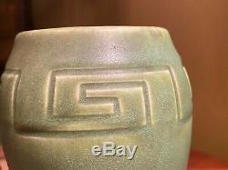 1904 Rookwood Stickley era arts and crafts pottery vase matt green
