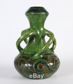 1905 Art Nouveau/Arts & Crafts Belgian Snake Handles Ceramiques de Flandres