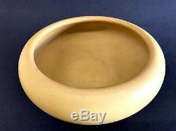 1908 Yellow Rookwood Bowl Arts Crafts Pottery matte glaze antique vtg