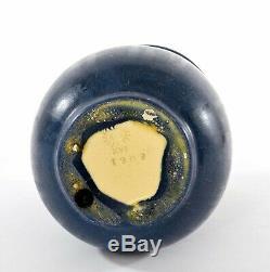 1909 Rookwood Pottery Arts & Crafts Dark Blue Vase Marked XVI