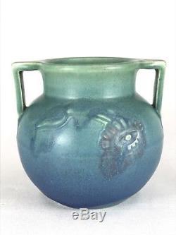 1913 Rookwood Charles Todd artist signed incised vase handled arts crafts vtg