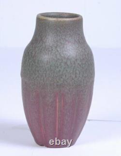 1914 ROOKWOOD Pottery Matte Pink & Green Vase Arts & Crafts Style (Shape 538F)