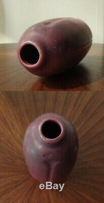 1918 VAN BRIGGLE Arts & Crafts Art Pottery Vase-Carved-EX