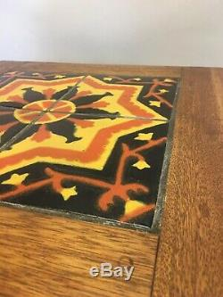 1920s Arts Crafts Catalina Tile Top Table Rancho Monterey California Pottery