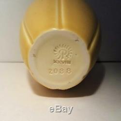 1923 XXVIII Rookwood Pottery Vase Shape 2088 Arts & Craft Mat Yellow 5-1/2