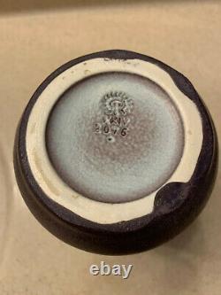 1924 Rookwood Arts & Crafts 2 Handled Vase Mauve Matte Finish 6 1/4 2076