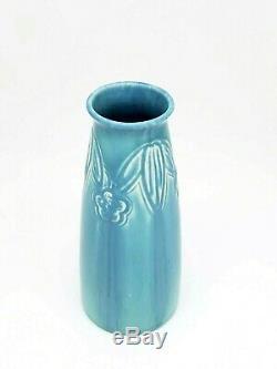 1924 Rookwood Pottery Arts & Crafts Crystalline Blue Vase #2108