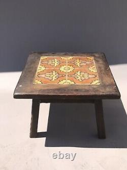 1930s MONTEREY MISSION CALIFORNIA ARTS CRAFT ANTIQUE CERAMIC TILE TABLE VINTAGE