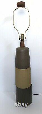 1960s MARTZ Tootsie Roll American Studio Craft Art Pottery Table Lamp Marshall