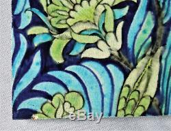 2 William De Morgan Tiles Rare Original English Arts & Crafts Antique Sands End