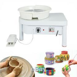 220V 250W Electric Pottery Wheel Machine For Ceramic Work Clay Art Craft 25CM