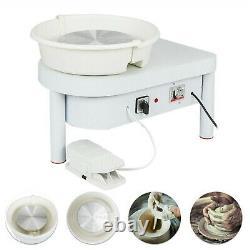 25CM 250W 110V Electric Pottery Wheel Machine Ceramic Work Clay Art Craft in U. S