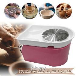 25CM 350W Electric Pottery Wheel Machine Ceramic Work Clay Art Craft Pink 110V
