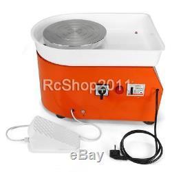 25CM 350W Electric Pottery Wheel Machine For Ceramic Work Clay Art Craft 110V US