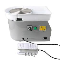 25CM 350W Electric Pottery Wheel Machine For Ceramic Work Clay Art Craft Molding