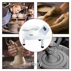 25CM Electric Pottery Wheel Ceramic Machine Work Clay Art Craft DIY 110V 250W