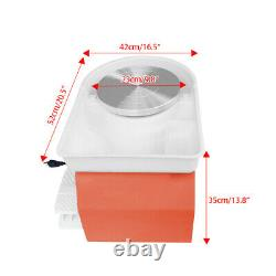 25CM Electric Pottery Wheel Machine with Tools Ceramic Work Clay DIY Art Craft New