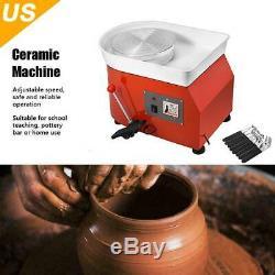 25CM Pottery Wheel Ceramic Machine for ceramic work Clay Art Craft 110V / NEW