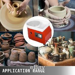 280W 110V Electric Pottery Wheel Ceramic Machine 25CM Work Clay Art Craft DIY