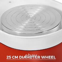 280W 25CM Electric Pottery Wheel Ceramic Machine Work Clay Art Craft DIY 110V