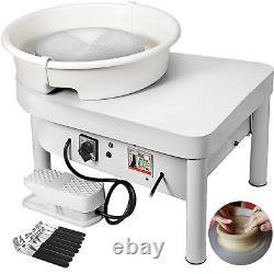 280W 25CM Electric Pottery Wheel Ceramic Machine Work Clay Art Craft DIY 110V A+