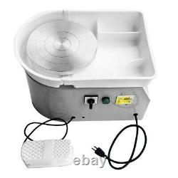 350W 110V/9.84'' Electric Pottery Wheel Machine For Ceramic Work Clay Art Craft