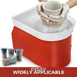 350W 110V Electric Pottery Wheel Ceramic Machine 25CM Work Clay Art Craft DIY US