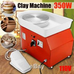 350W 110V Electric Pottery Wheel Ceramic Machine Work Clay Art Craft DIY 25cm US