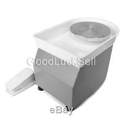 350W 220V Electric Pottery Wheel Machine For Ceramic Work Clay Art Craft 25cm UK