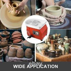 350W 25CM Electric Pottery Wheel Ceramic Machine Work Clay Art Craft DIY 110V US