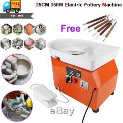 350W 25CM Electric Pottery Wheel Machine Ceramic Work Clay Craft Art School Teac