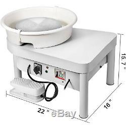 350W 25CM Electric Pottery Wheel Machine Pottery Bar 110V Mini Arts Crafts