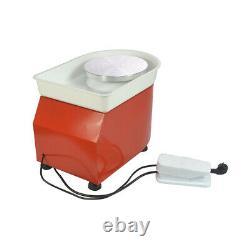350W Electric Pottery Wheel Machine 110V 25CM For Ceramic Work Clay Art Craft