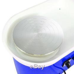 350W Electric Pottery Wheel Machine Ceramic Craft Clay Art Work DIY Gift Blue