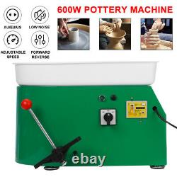 600W 110V Brushless Electric Pottery Wheel Machine Ceramic Work Clay Art