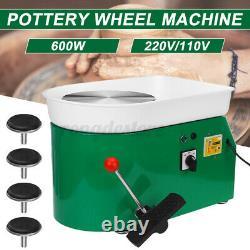 600W 110V Brushless Electric Pottery Wheel Machine Ceramic Work Clay Art Craft