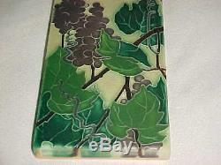 8 X 4 Signed Motawi Tileworks Arts Crafts Revival Pottery Tile Grapes Mint! Op