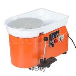 9.8350W Electric Pottery Wheel Ceramic Machine Fr Work Clay Art Craft 220V 25cm