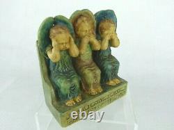 A Rare Compton Pottery Speak No Evil Figurine by Mary Seton Watts. Art & Crafts