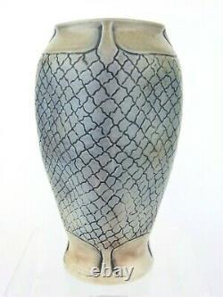 A Wonderful Martin Brothers Arts & Crafts Vase- Skin/ Scale Design