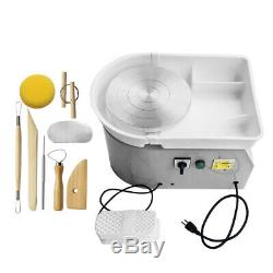 AC 100V Electric Pottery Wheel Machine For Ceramic Work Clay Art Craft Molding