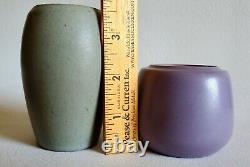 ALL MINT Marblehead Pottery LOT OF 3 Vase Bowl Arts & Crafts Grueby Fulper era