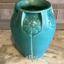 ANTIQUE Rookwood Arts & Crafts Pottery Circa 1934 Teal Flower Vase #2380