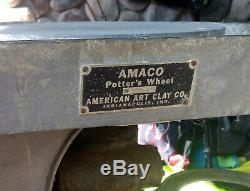 Amaco American Art Clay Co. Professional Pottery Potters Wheel Model No. 1