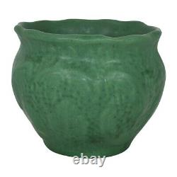 American Ohio Art Pottery Matte Green Arts and Crafts Jardiniere Planter